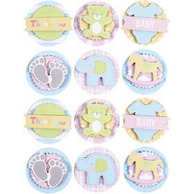 Afbeelding van 3D Baby Stickers, d: 35 mm, dikte 5 mm, baby, 1vel