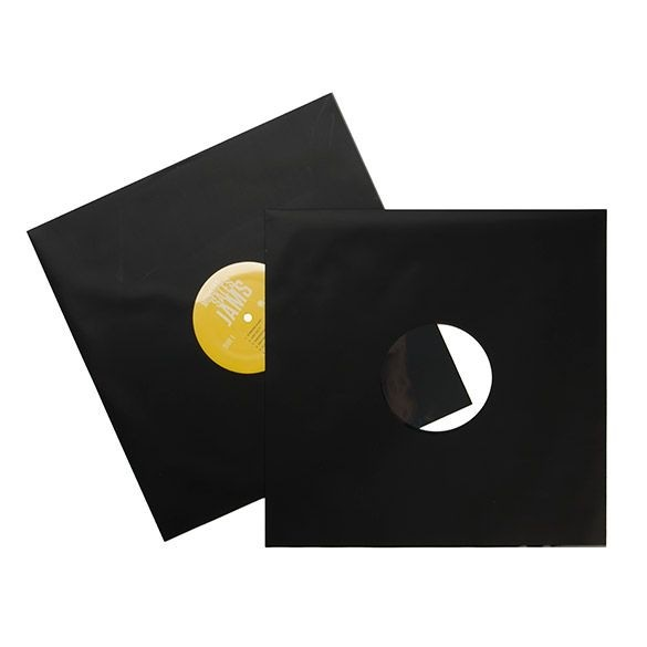 Afbeelding van 12 Inch Mat Zwarte Binnenhoezen Voor Platen (100 stuks)