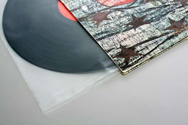 Afbeelding van 12 inch binnenhoes platen hoezen (ook wel Blake sleeves) 30.6x30.5 cm