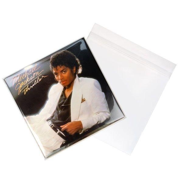 Afbeelding van 12 inch buitenhoes voor dubbele LP (gelamineerd) 32.7x31.6 + 3.9 cm